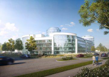 Büropark 2020: 11 stöckiger Glasturm mit 360-Grad-Blick 85521 Ottobrunn b. München, Bürohaus